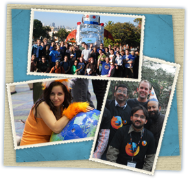 Photo collage of Mozillians
